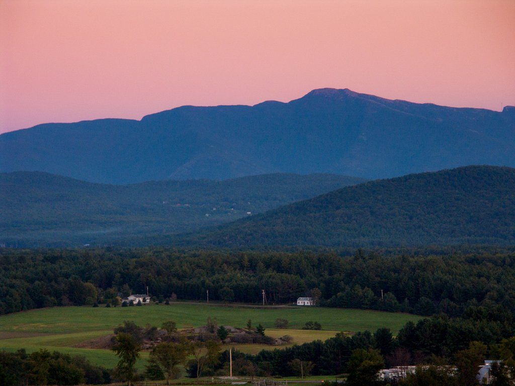 Sunset over Mt Mansfield from Fairfax VT