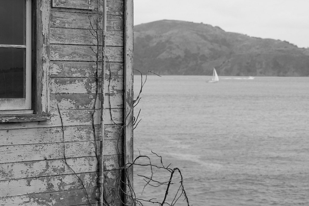 Abandoned building at Alcatraz