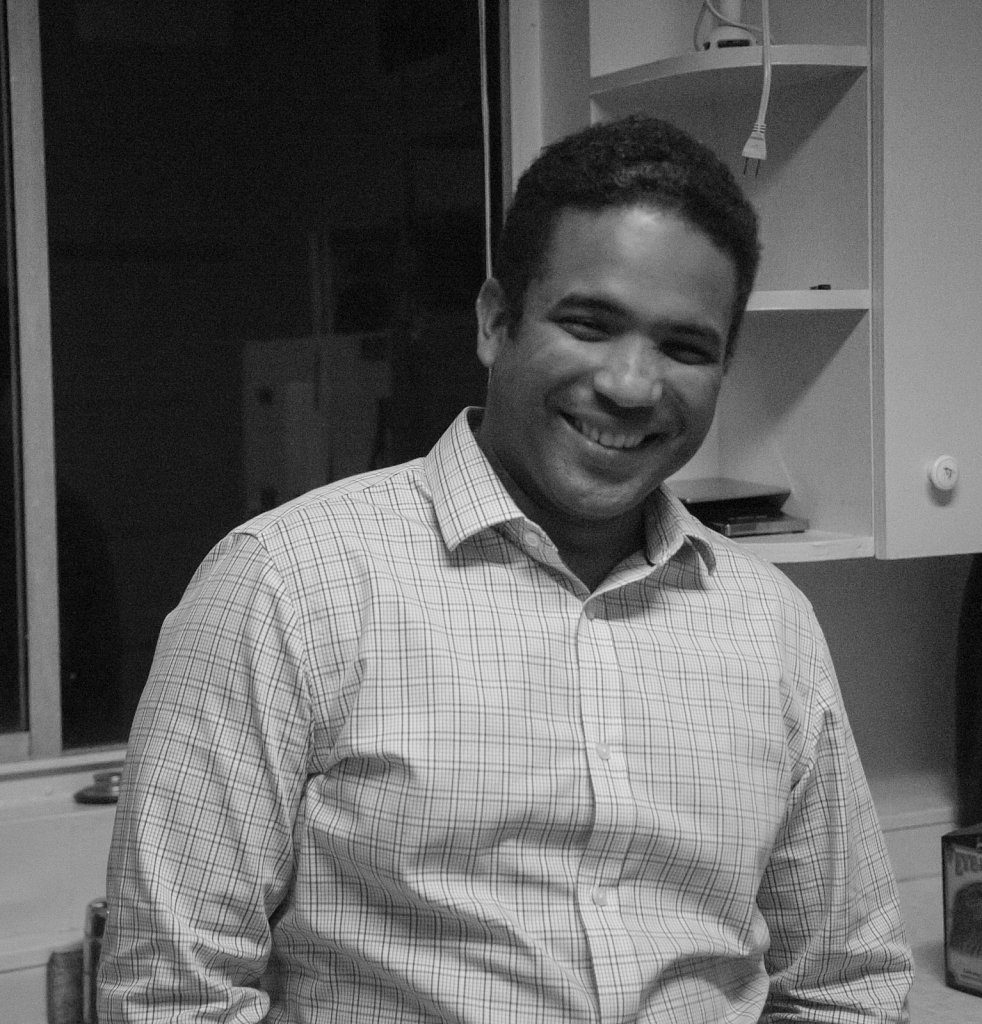 Smiling Chris in my kitchen