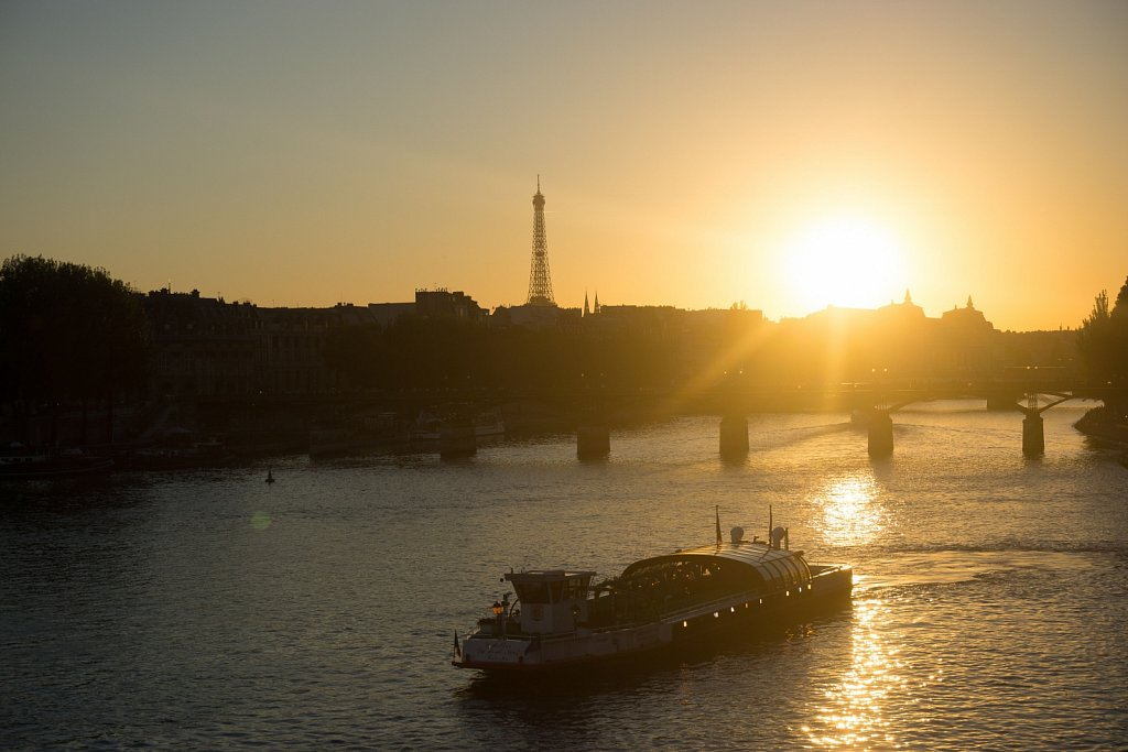 Over the Seine at sunset
