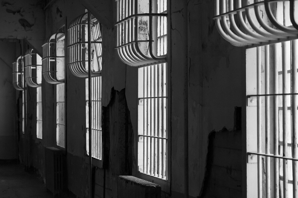 Windows with Bars on Alcatraz prisoner block
