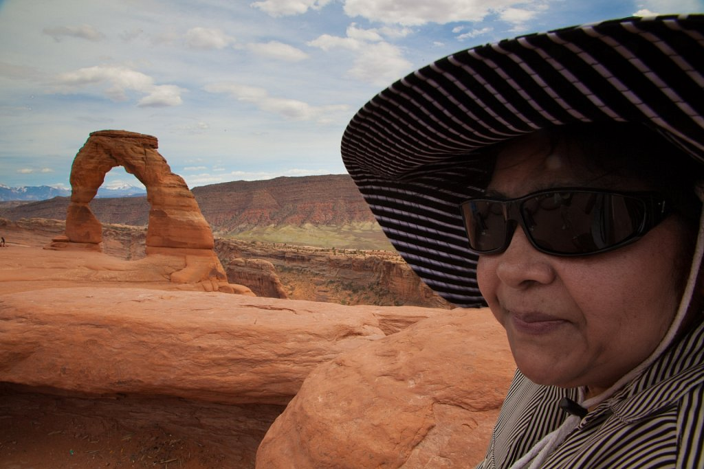 My Momma and Delicate Arch