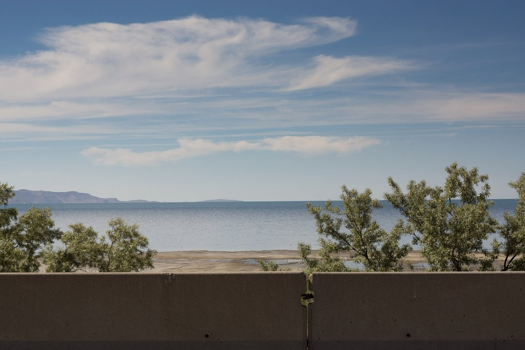 The Great Salt Lake off of I-80 in Utah