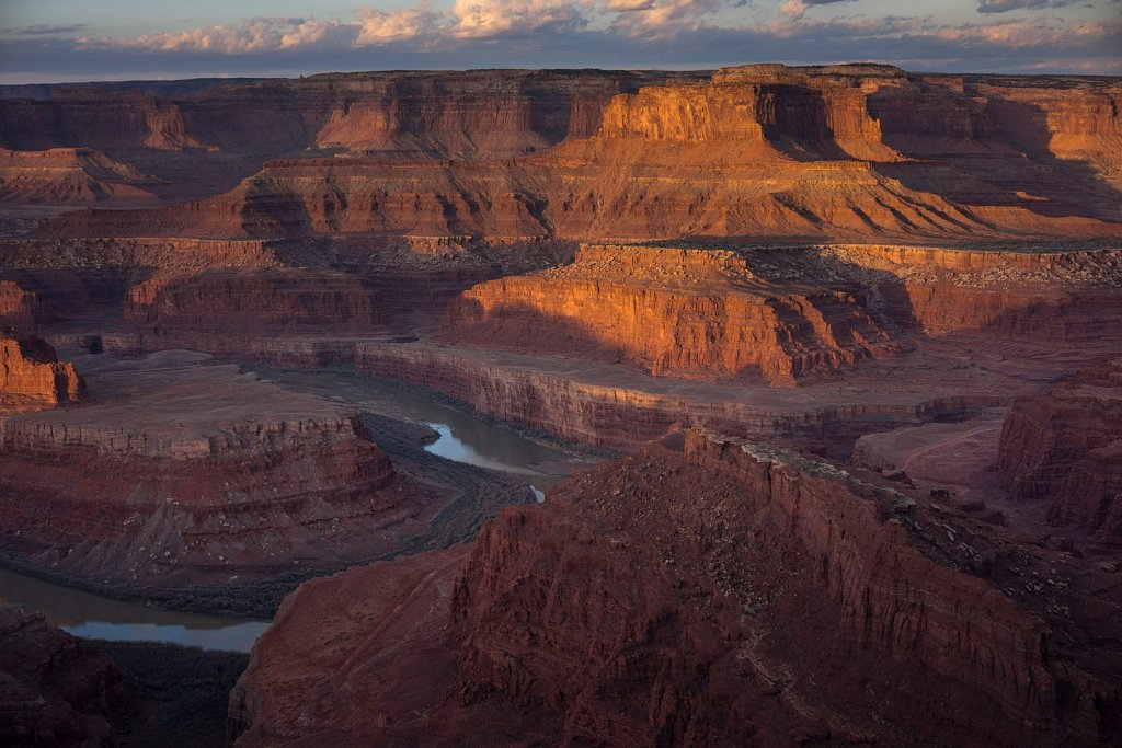 Canyonlands from Dead Horse Point State Park at dawn.