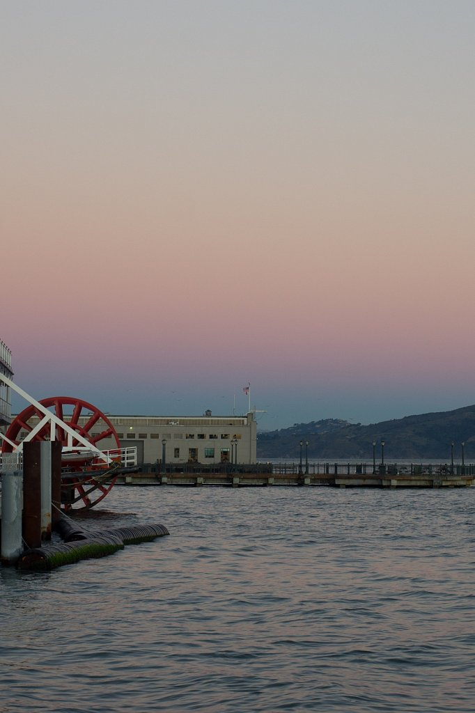 Paddlewheel on the San Francisco Bay at dawn