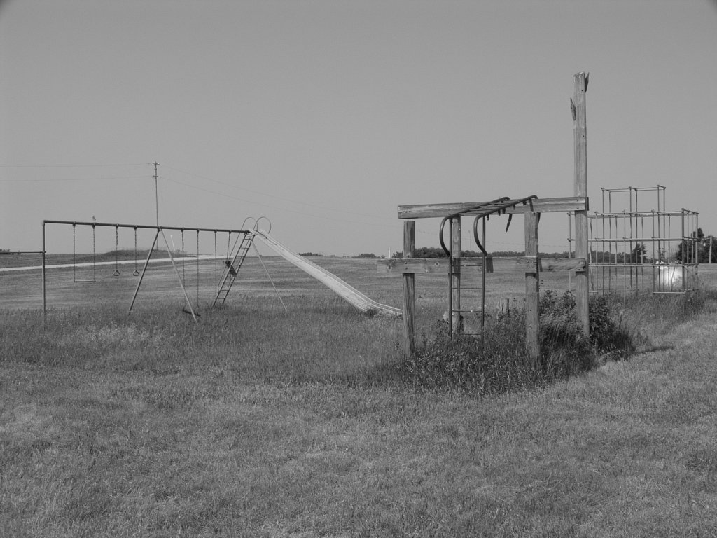 Old playground in Nicodemus Kansas