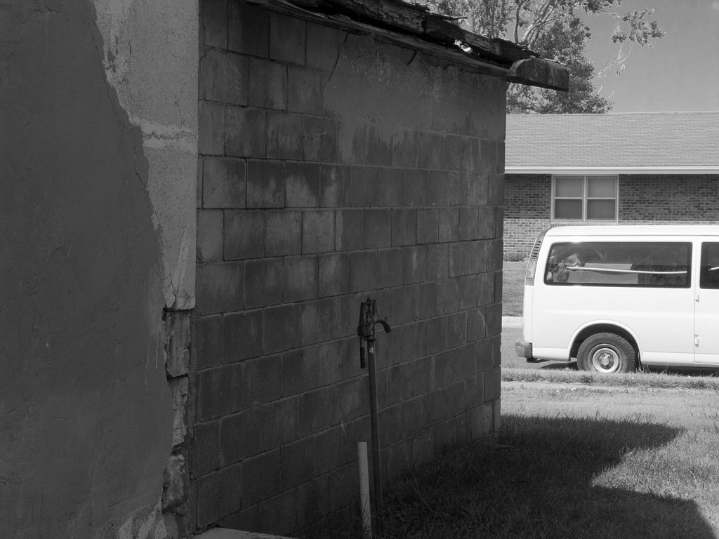 Spigot against a concrete shack Nicodemus Kansas