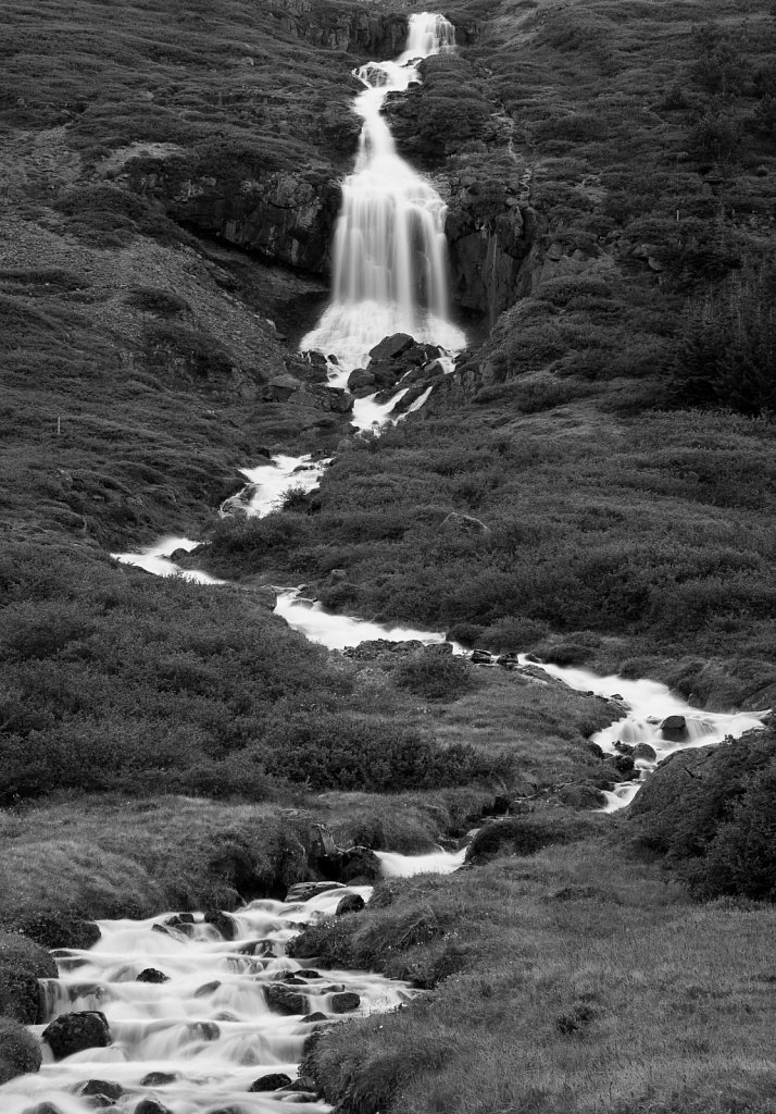 Waterfall in Northeast Iceland