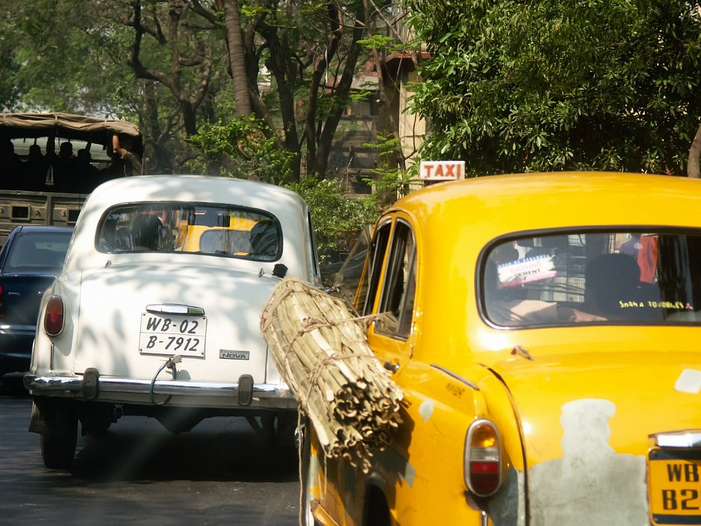 Carrying bamboo by taxi in Kolkata West Bengal