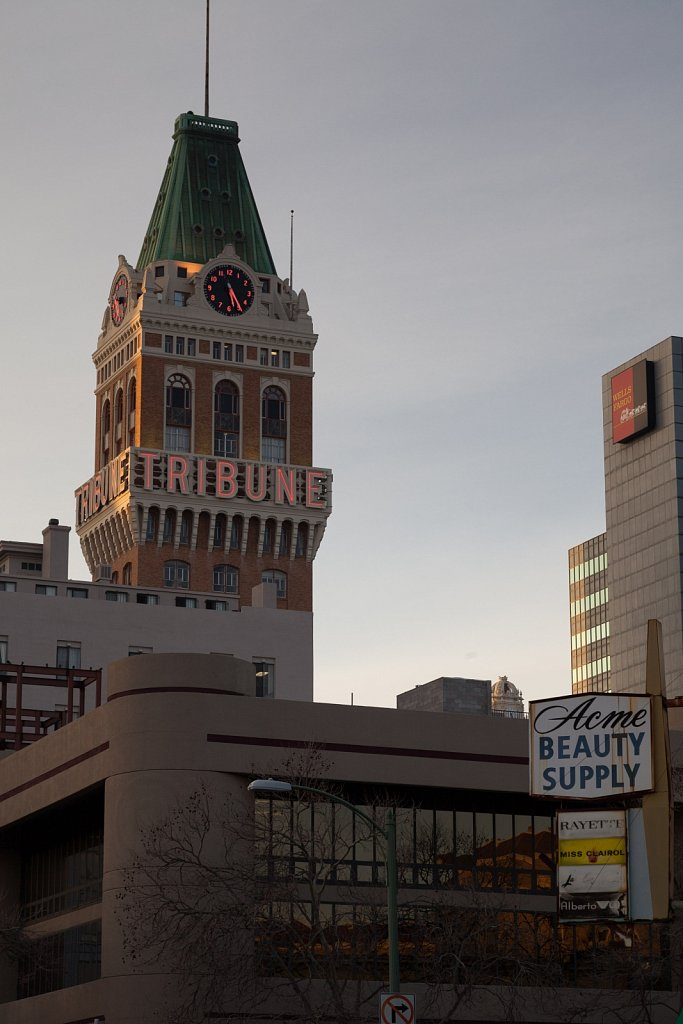 The Tribune Building, Wells Fargo, and Acme Beauty Supply