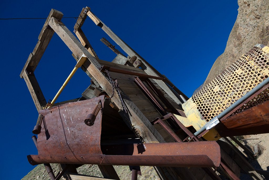 Mine equipment  in death valley national park