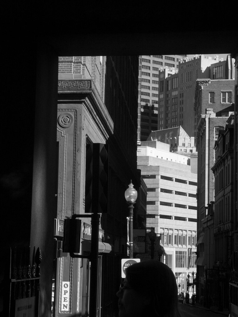 Laura peeks into downtown Boston