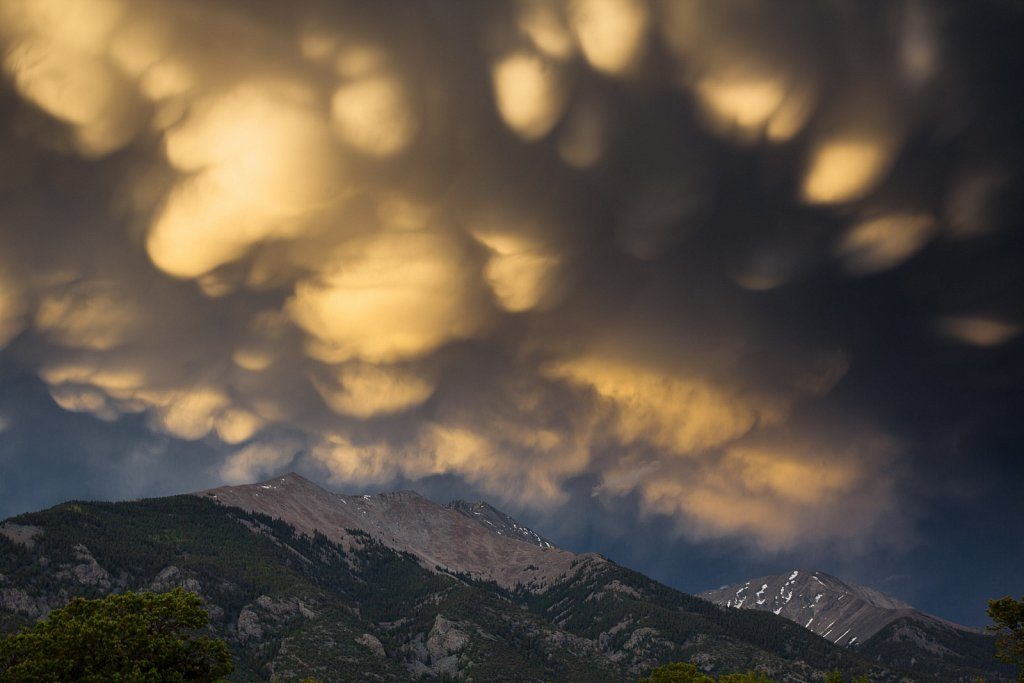Mammatus clouds above Mt Blance in the Sangres