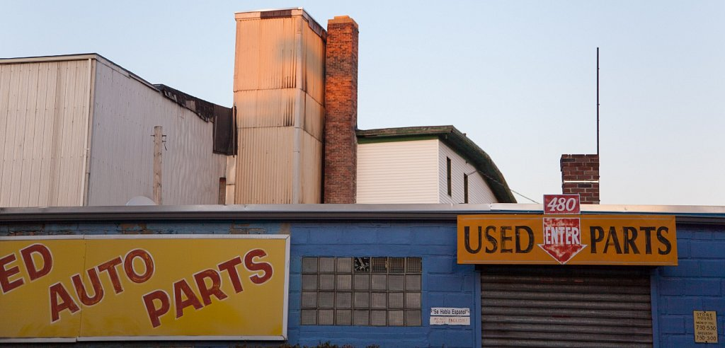 Used auto parts, behind Union Square, Somerville, MA