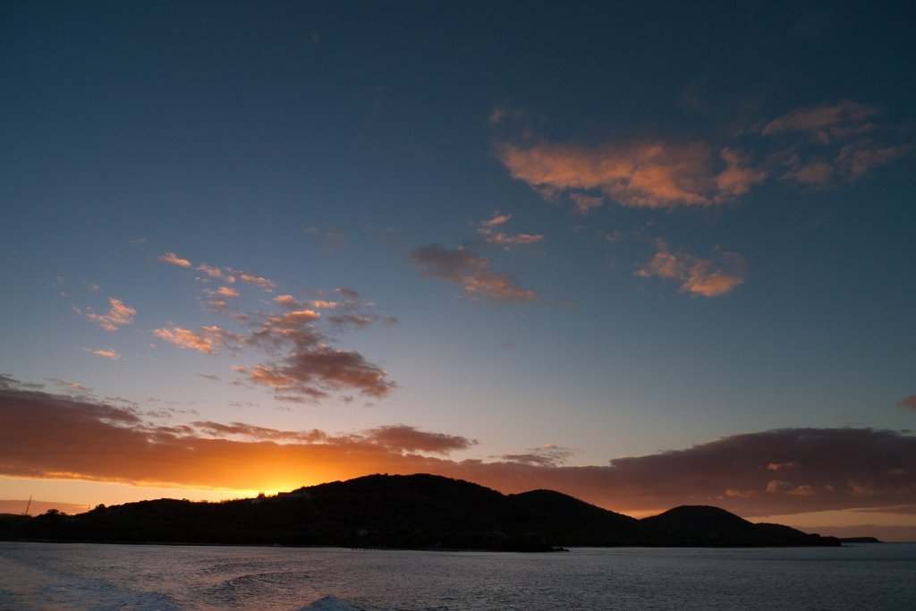 Leaving Culebra Island at dawn